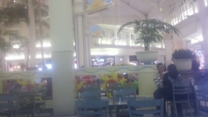 @optiquest21 placing postcards at a mall in Houston
