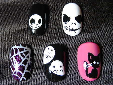Halloween Nail Art by Asami Ramirez