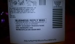 Business Reply Mail w/ instructions