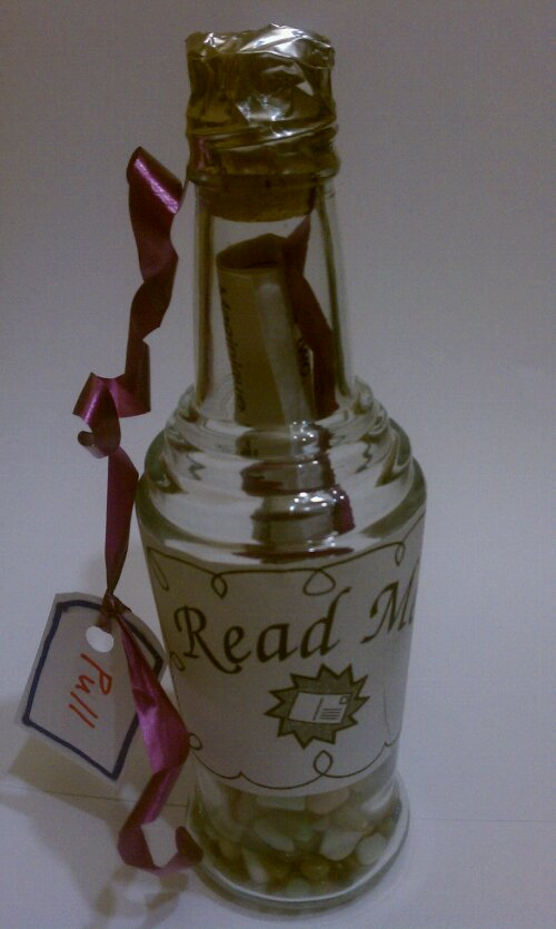 Read Me Bottle w/ Pull String